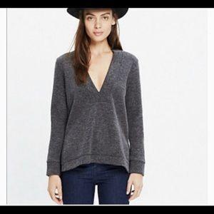 Madewell Women's Sweater Deep V-neck Side Slits